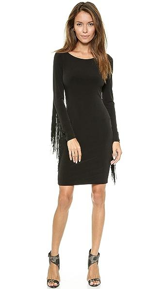 Kupi 5th & Mercer haljinu online i raspordaja za kupiti 5Th & Mercer Long Sleeve Fringe Dress Black online