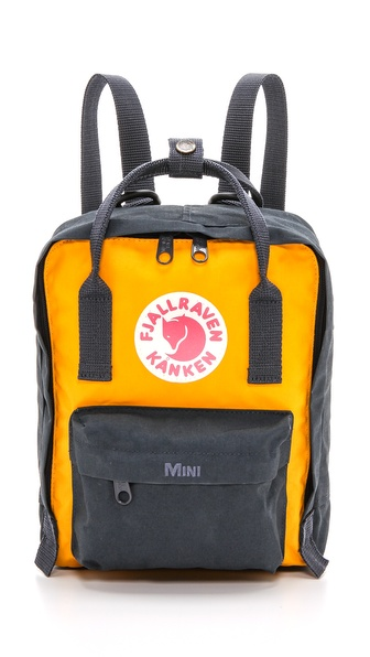 Fjallraven Kanken Mini Backpack - Navy/Yellow at Shopbop / East Dane