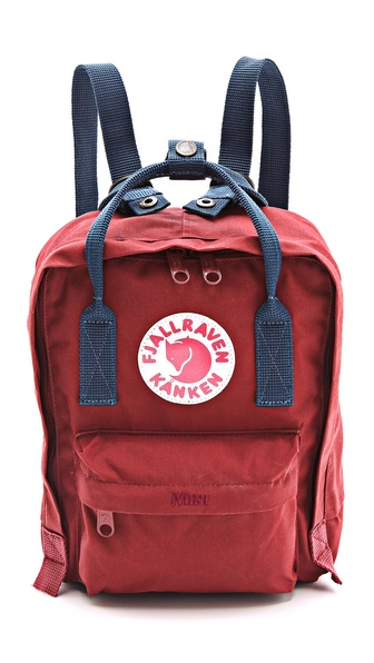 Fjallraven Kanken Mini Backpack - Ox Red/Royal Blue at Shopbop / East Dane