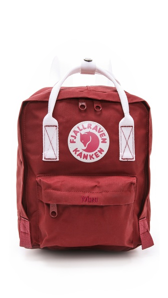 Fjallraven Kanken Mini Backpack - Ox Red/White at Shopbop / East Dane