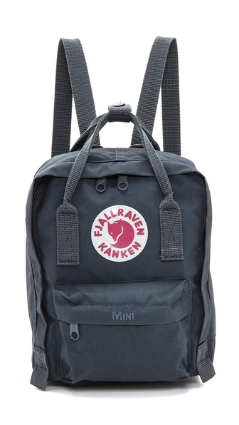 Fjallraven Kanken Mini Backpack - Graphite at Shopbop / East Dane