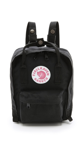Fjallraven Kanken Mini Backpack - Black at Shopbop / East Dane