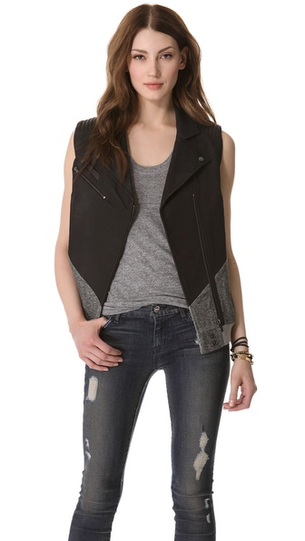 Francis Leon Sideswipe Leather Vest
