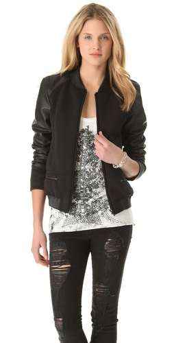 Francis Leon Runamuck Leather & Neoprene Jacket