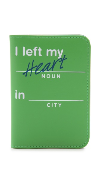 Flight 001 I Left My Heart Passport Case