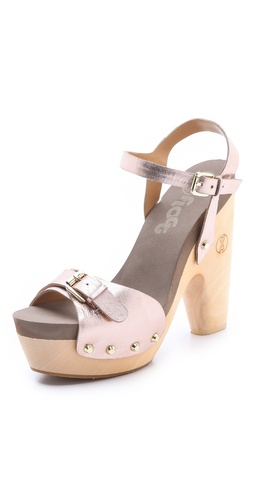Flogg Cassie Metallic Platform Clog Sandals at Shopbop / East Dane