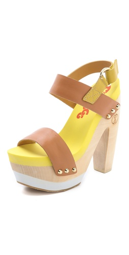 Flogg Rexfort Two Band Platform Clog Sandals at Shopbop / East Dane