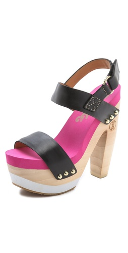 Flogg Rexfort Two Band Platform Clog Sandals