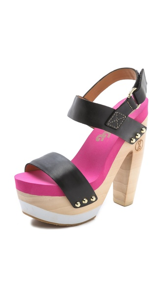 Flogg Rexfort Two Band Platform Clog Sandals from shopbop.com