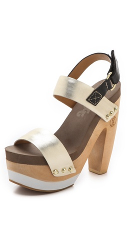 Flogg Rexfort Metallic Platform Clog Sandals at Shopbop / East Dane