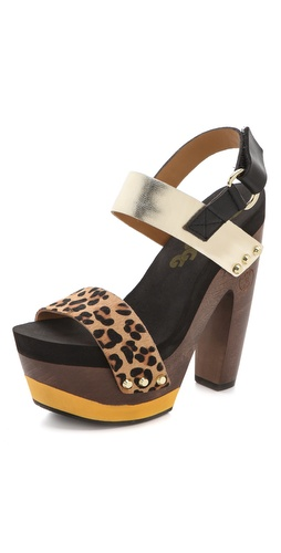 Flogg Rexfort Haircalf Platform Clog Sandals at Shopbop.com