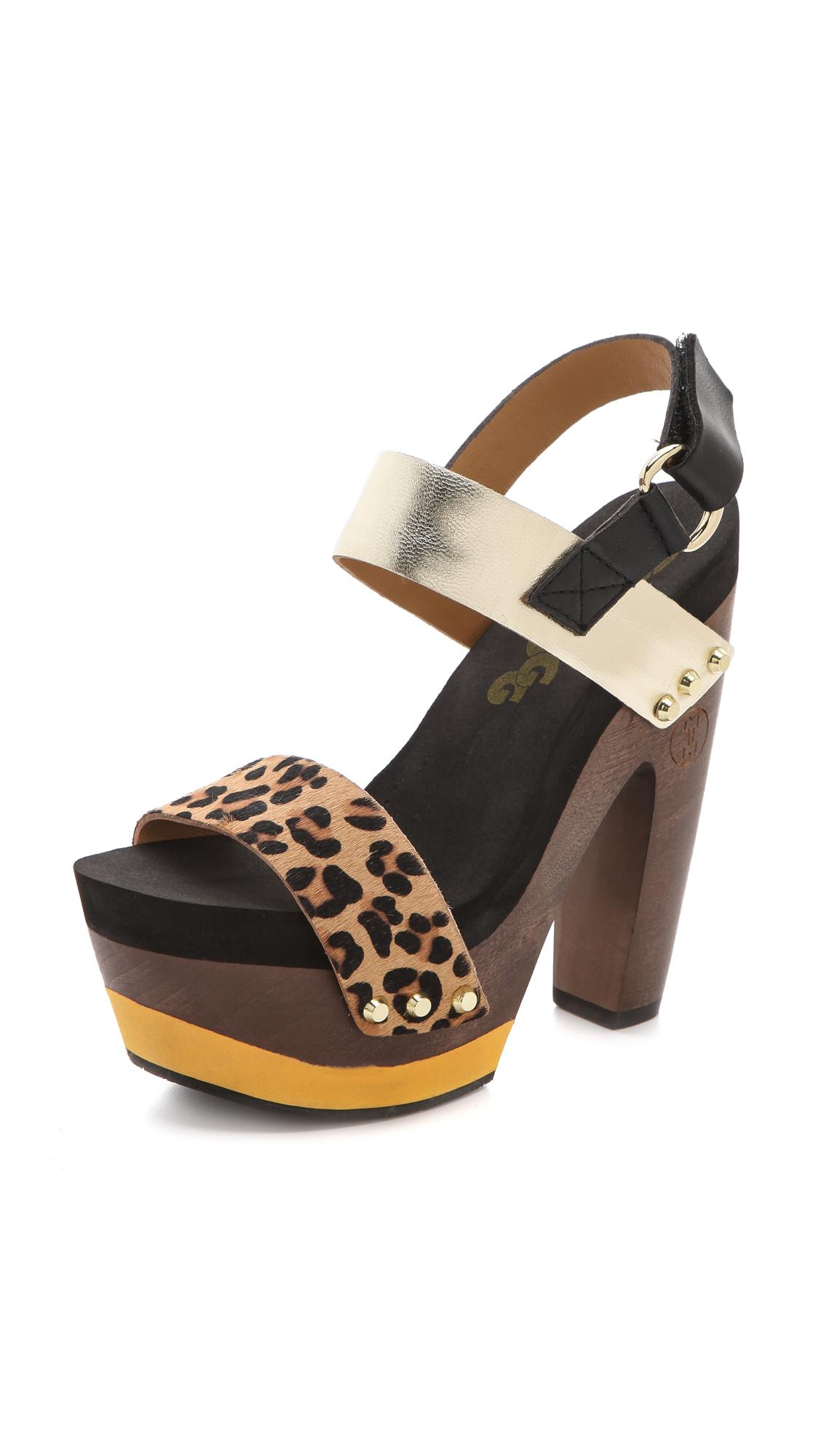 3cd077f7d7df Flogg Rexfort Haircalf Platform Clog Sandals on PopScreen
