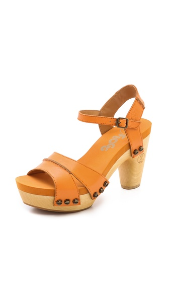 Flogg Florence Clog Sandals - Orange