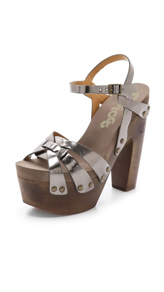 Flogg Rainbow Ii Metallic Sandals - Gunmetal