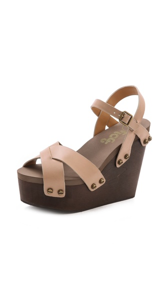 Flogg Liliana Wedge Sandals - Taupe