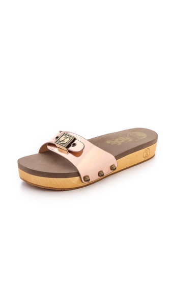 Flogg Nikita Slide Sandals - Rose Gold
