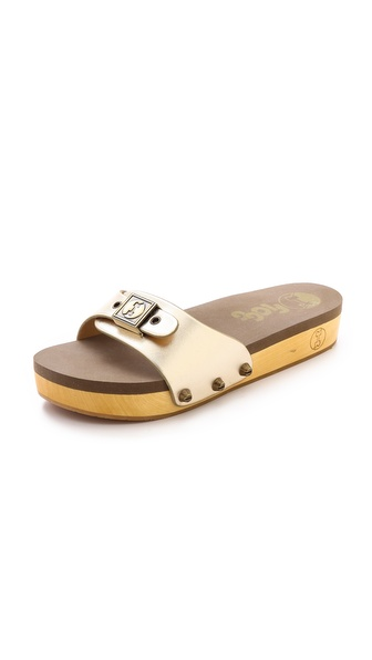 Flogg Nikita Slide Sandals - Gold