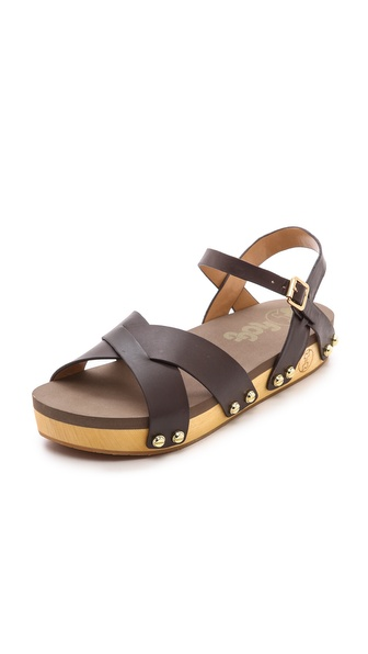 Flogg Nessy Ankle Strap Flat Sandals - Brown