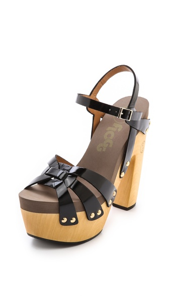 Flogg Rainbow Platform Clog Sandals - Black at Shopbop / East Dane