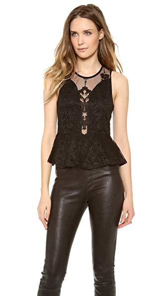 For Love & Lemons Lulu Peplum Top