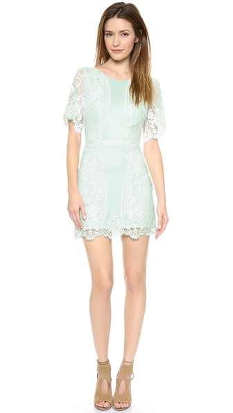 For Love & Lemons San Marcos Lace Mini Dress