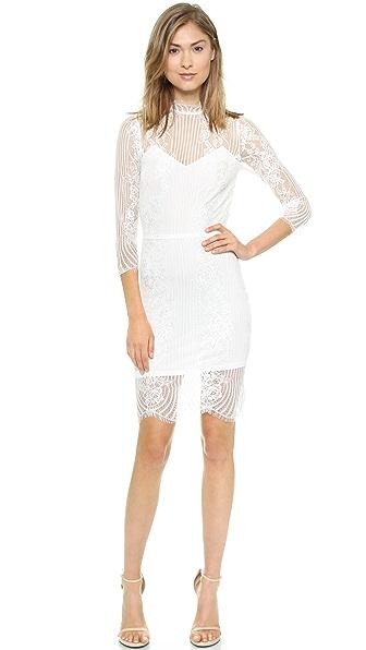 Shop For Love & Lemons online and buy For Love & Lemons Rosette Dress White online