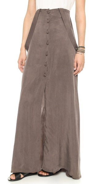 Flynn Skye Moss Maxi Apron Skirt