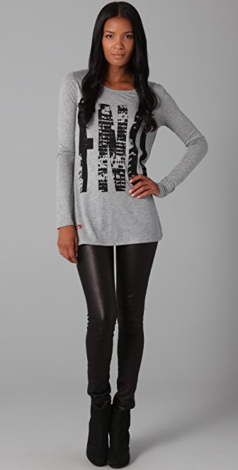 FASHION'S NIGHT OUT Fashion's Night Out Long Sleeve Tee