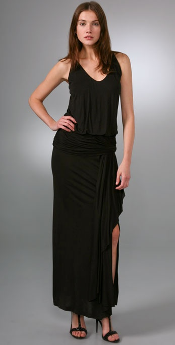 Foley + Corinna Cascade Long Dress