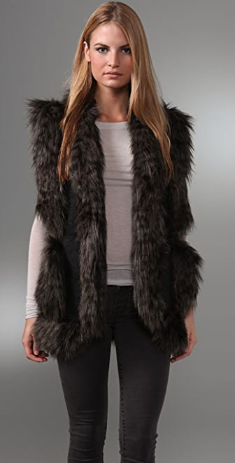 Foley + Corinna Faux Fur Vest