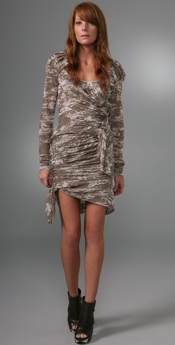 Foley + Corinna Long Sleeve Burnout Dress