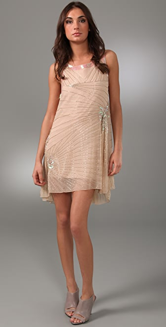 Foley + Corinna Beaded Godet Dress