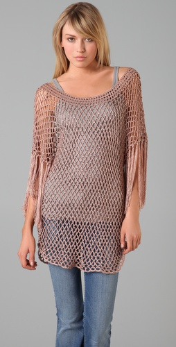 Foley + Corinna Crochet Fringe Sweater