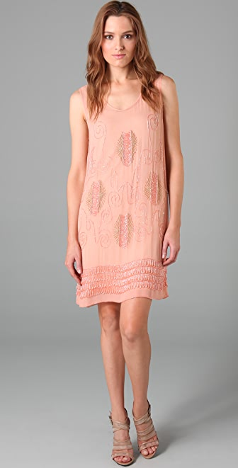 Foley + Corinna Starburst Beaded Tank Dress