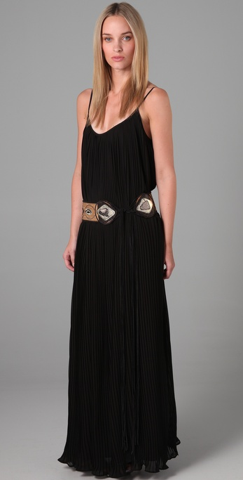 Foley + Corinna Pleated Long Dress