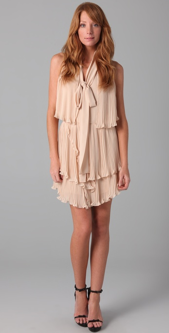 Foley + Corinna Tiered Pleated Mini Dress