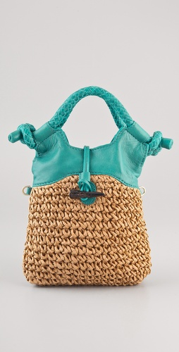 Foley + Corinna Mini City Straw Tote