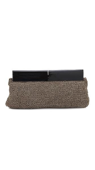 Foley + Corinna Knit Leather Clutch
