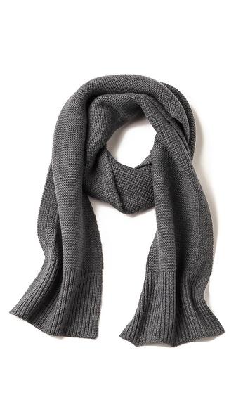 Folk Reverse Knit Scarf