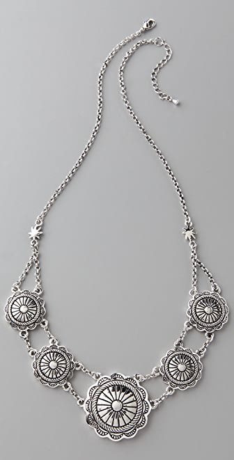 Fortune Favors the Brave Concho Collar Necklace