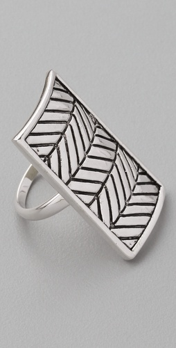 Fortune Favors the Brave Arrow Shield Ring