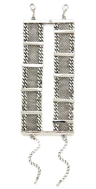 Fortune Favors the Brave Bar Mesh Chain Bracelet