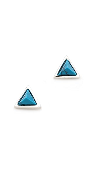Fortune Favors the Brave Triangle Stud Earrings