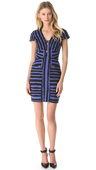 4.collective Geo Zebra Cap Sleeve Dress