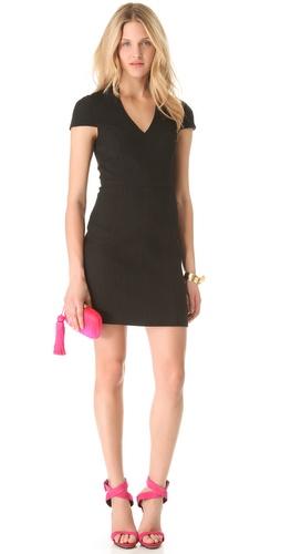 4.collective Basket Weave Cap Sleeve Dress