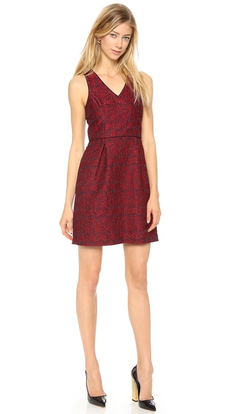 4.collective Lace Sleeveless V neck Dress