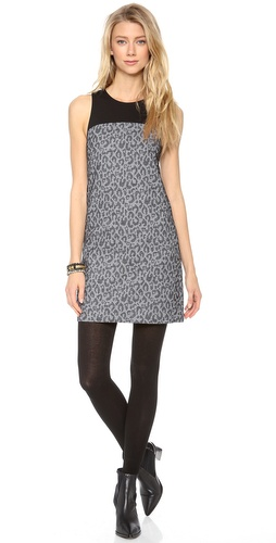 4.collective Leopard Sleeveless Shift Dress