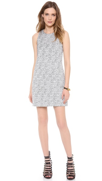 4.collective Sleeveless Tweed Shift Dress