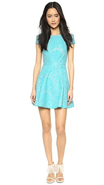4.Collective Lilou Mosaic Flirty Dress - Aqua