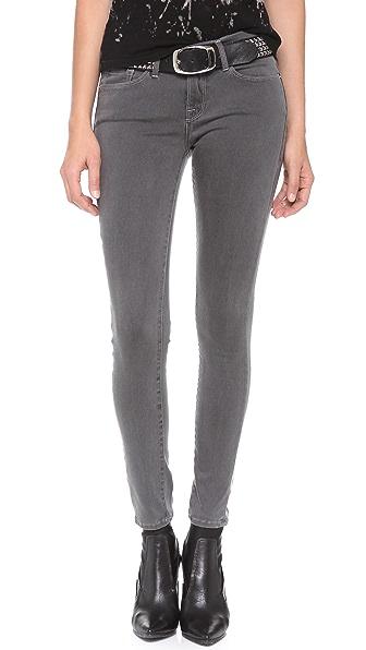 FRAME Le Luxe Noir Skinny Jeans